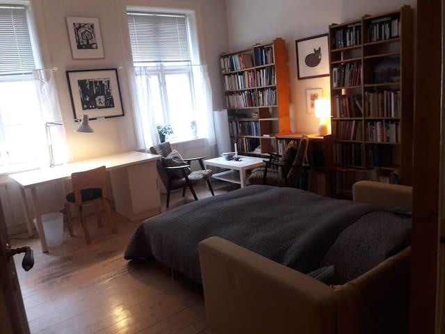 Large cozy room in central Oslo for 1 or 2 persons