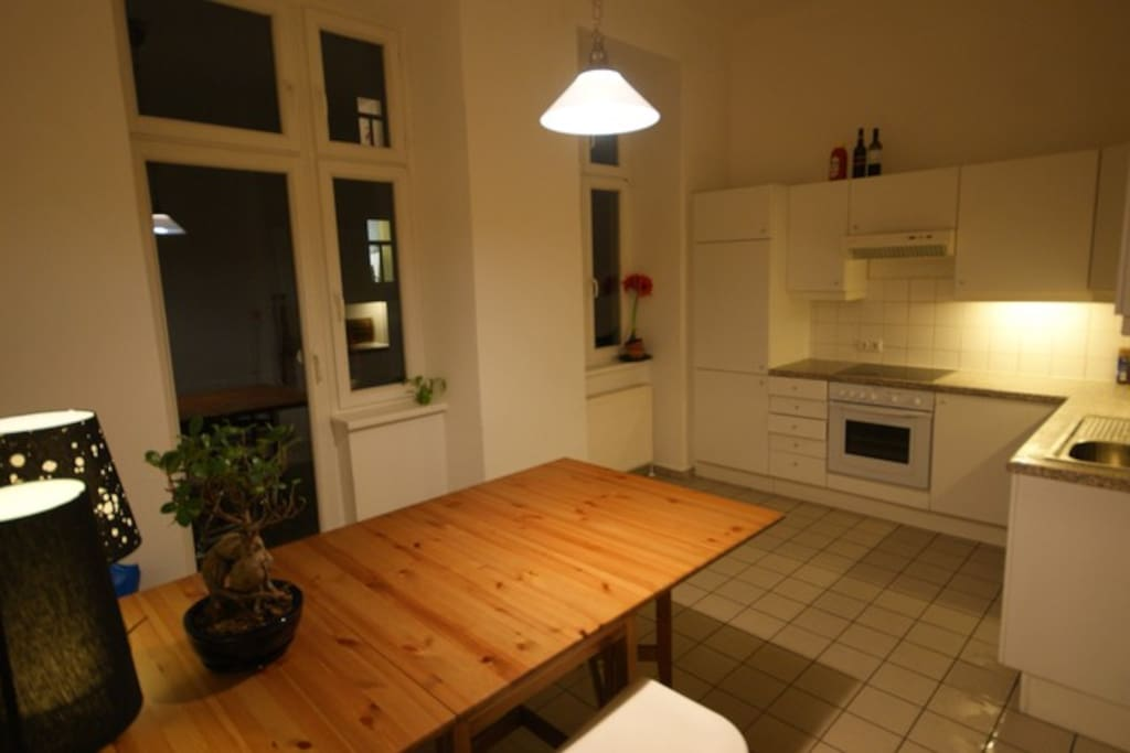 Kitchen in the evening