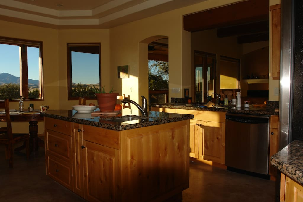 Beautiful afternoon light in the kitchen.