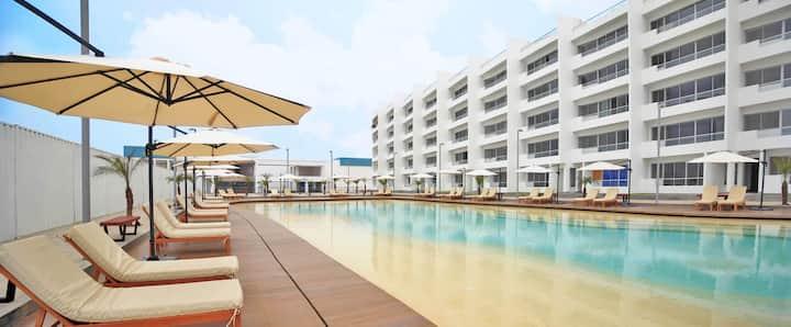 Departamento de playa Condominio Nueva Asia