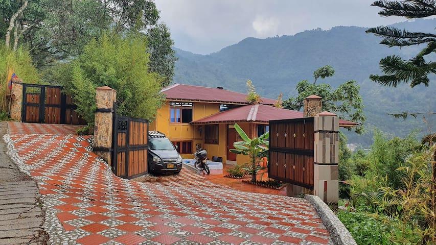 "La Cumbamba -  the ""Azulejos"" family room"