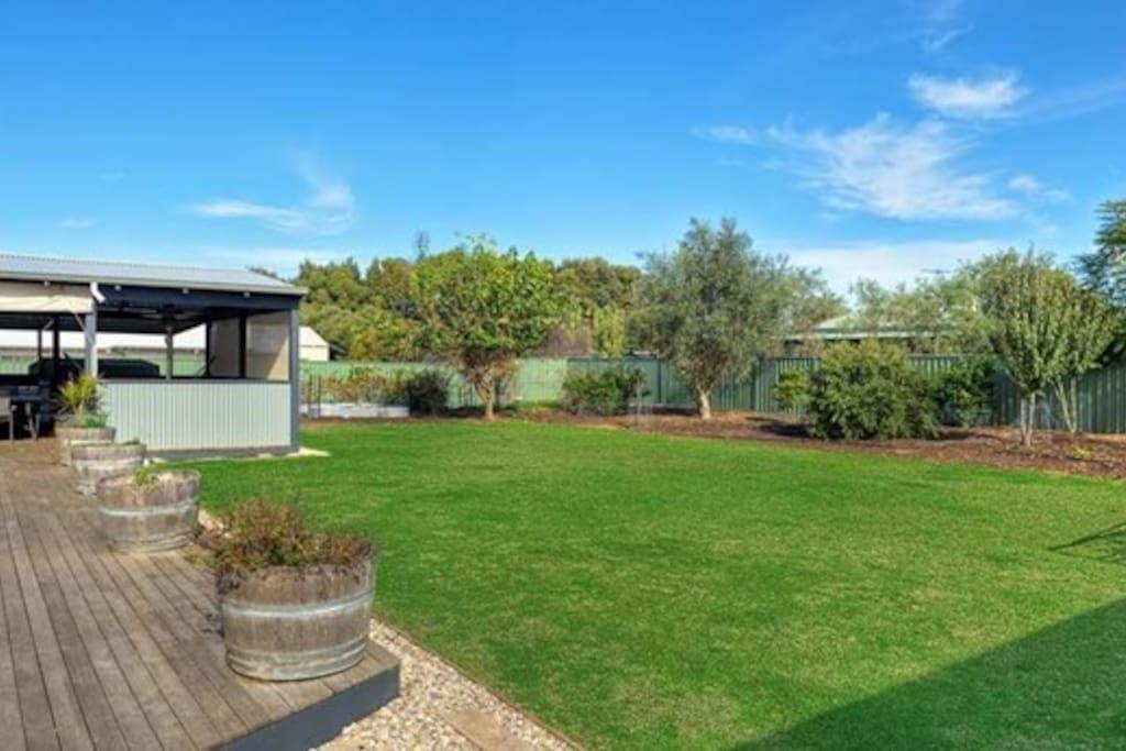 Large secure backyard
