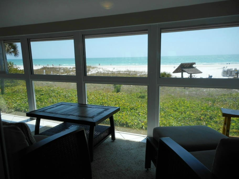 Serenity is waiting for you on this direct beachfront lanai.