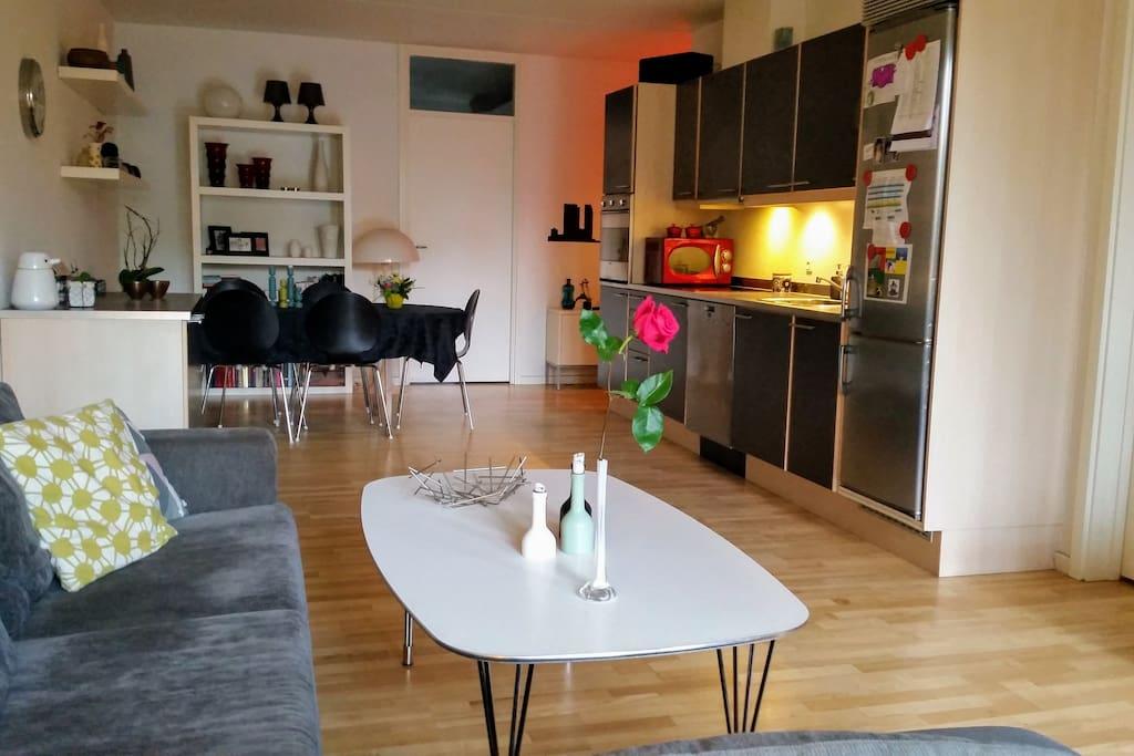 køkken og stueområde