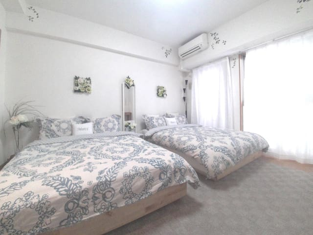 1min #4 Clean and safety room! same price 4 gests - Osaka - Appartement