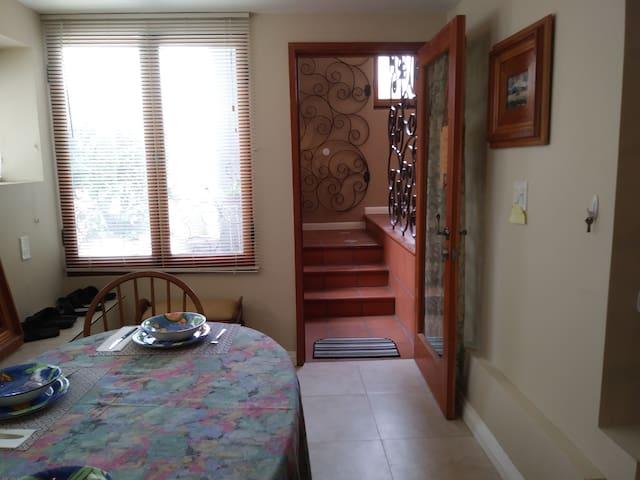 Entering the Studio Apartment
