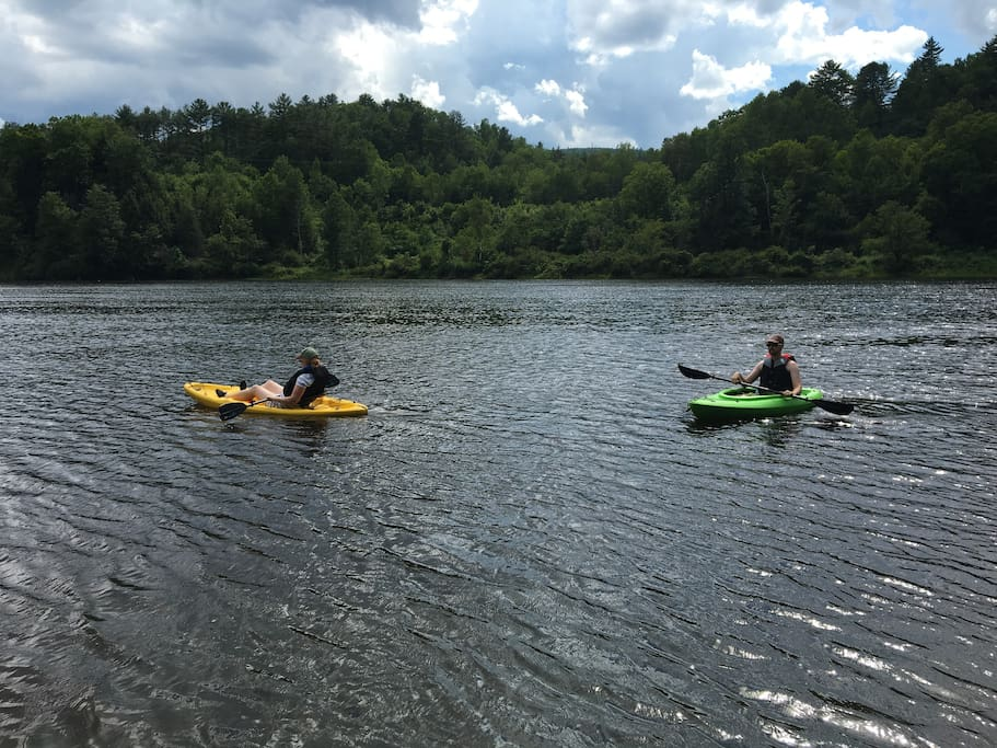 Enjoy meandering down the Connecticut River in the kayaks