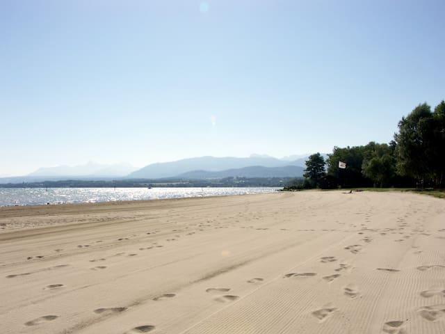 Chambre ds Maison à 15min la plage et 20km Genève.