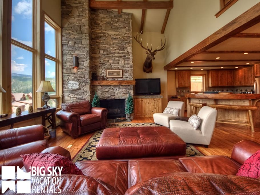 Big Sky Resort, Black Eagle Lodge 12, Living, 3