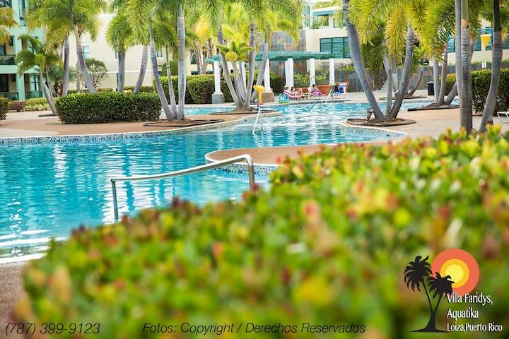 Charming and Renovated apt@ Aquatika Beach Resort