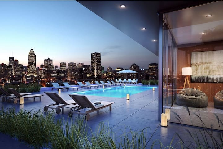 #1 AMAZING Condo in DOWNTOWN Montreal -Heated Pool