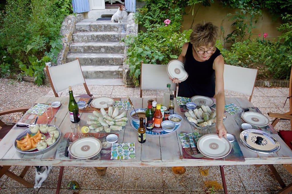 Jolie terrasse en rez de jardin
