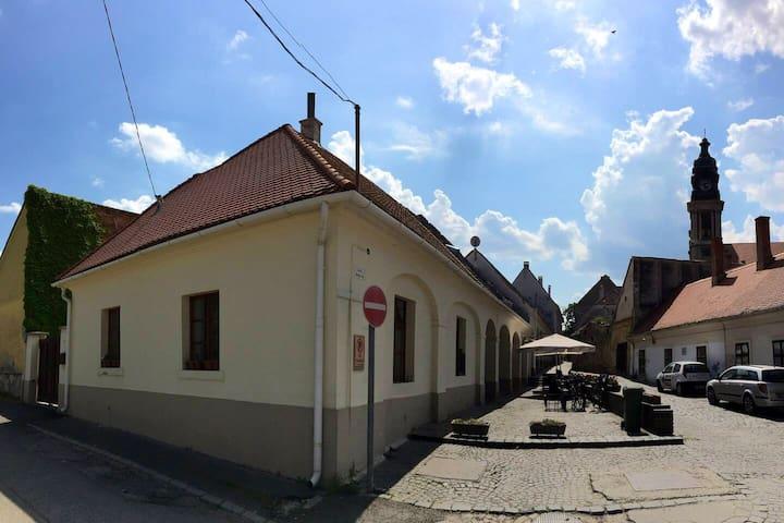 Ház saját udvarral a történelmi városközpontban