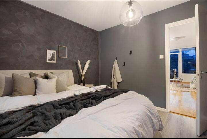 komfortabelt rom med 10 min avstand fra sentrum