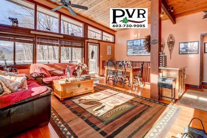 3BR Mountain Home near Storyland. Large Deck, Fire Pit, Cable, WiFi - 89 Eagle Mountain Road
