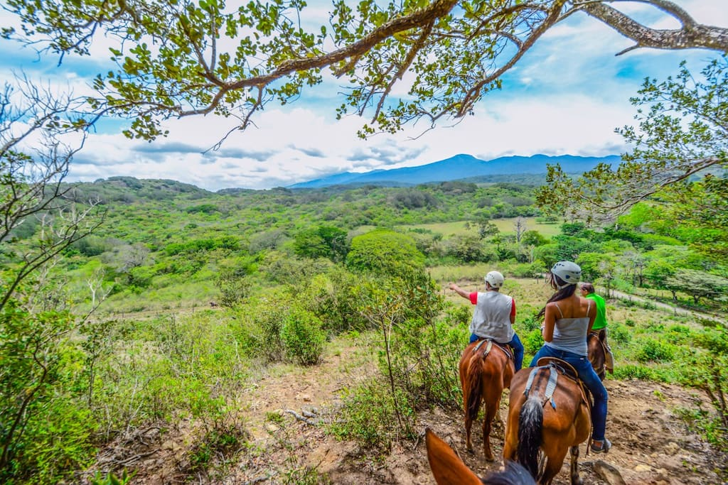 Horseback Riding and great View of Rincon de la Vieja on Horseback Ride.