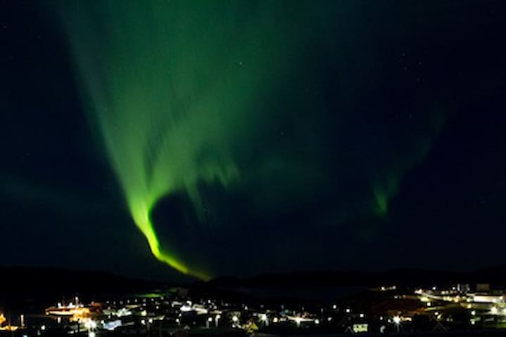 northern lights over Narsaq