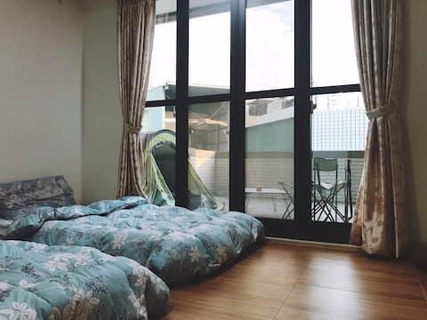全新裝潢!兩房一陽台(一衛浴)1 Suite & 1 Room,近瑞光夜市、國3交流道
