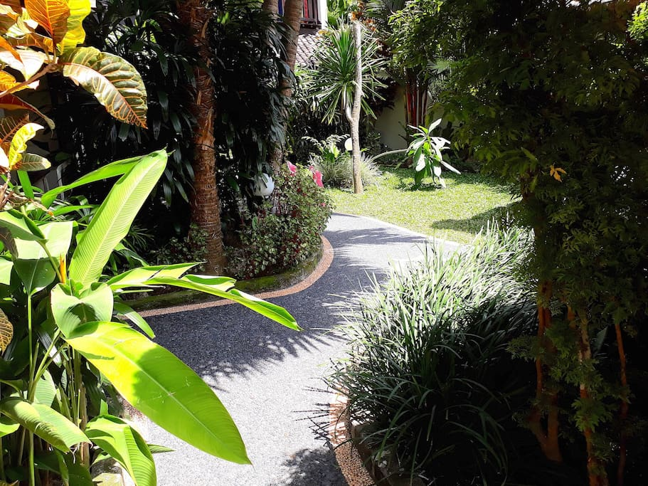 Garden Area pathway to your suite #3..4..or 5