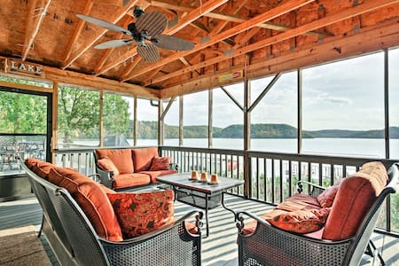 Lakefront Sunrise Beach Home w/Dock & Water Slide!