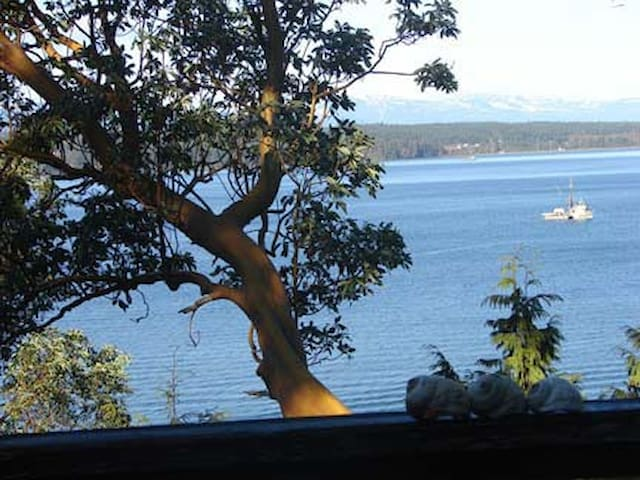 Hornby Island Beach House, waterfront
