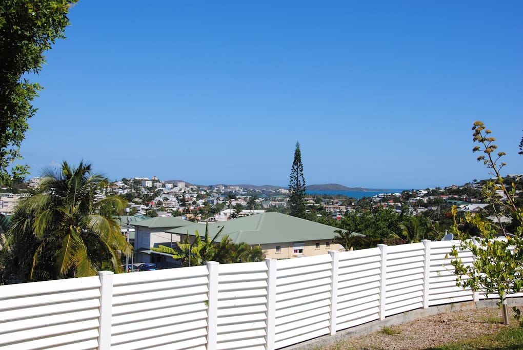 La vue sur la baie de Sainte Marie.