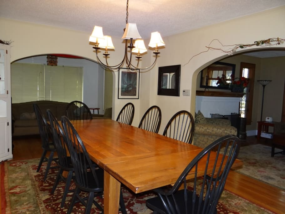 Large dining room for great meals and conversation.