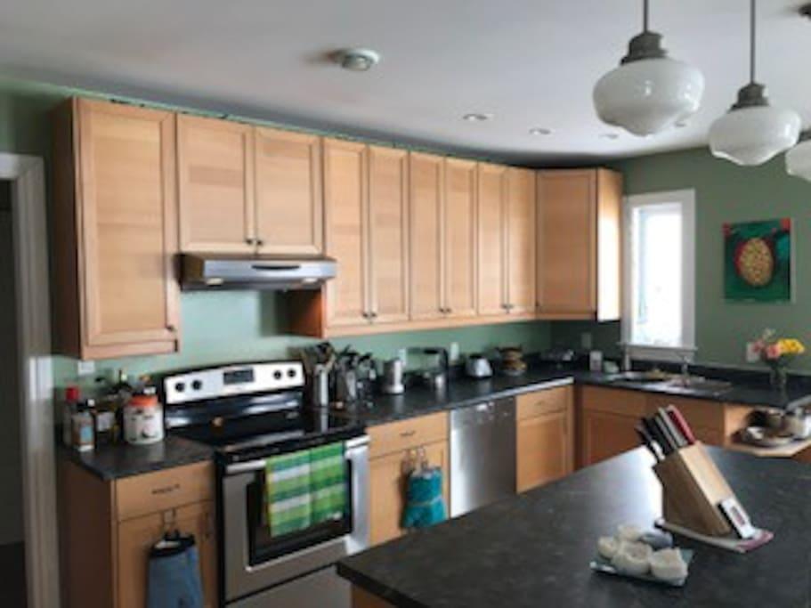 Large kitchen on main floor.
