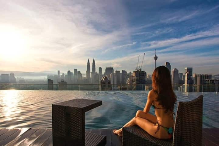 B1 Infinity Pool 2 rooms@Near City Center,KLCC