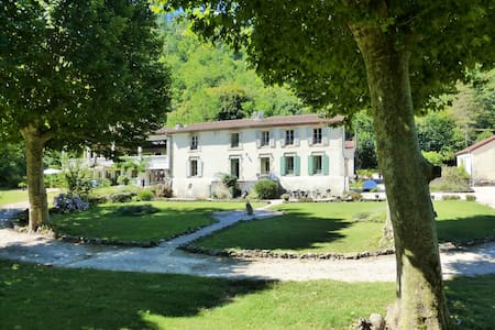 Riverside Château with pool and grounds - Branoux-les-Taillades - 公寓