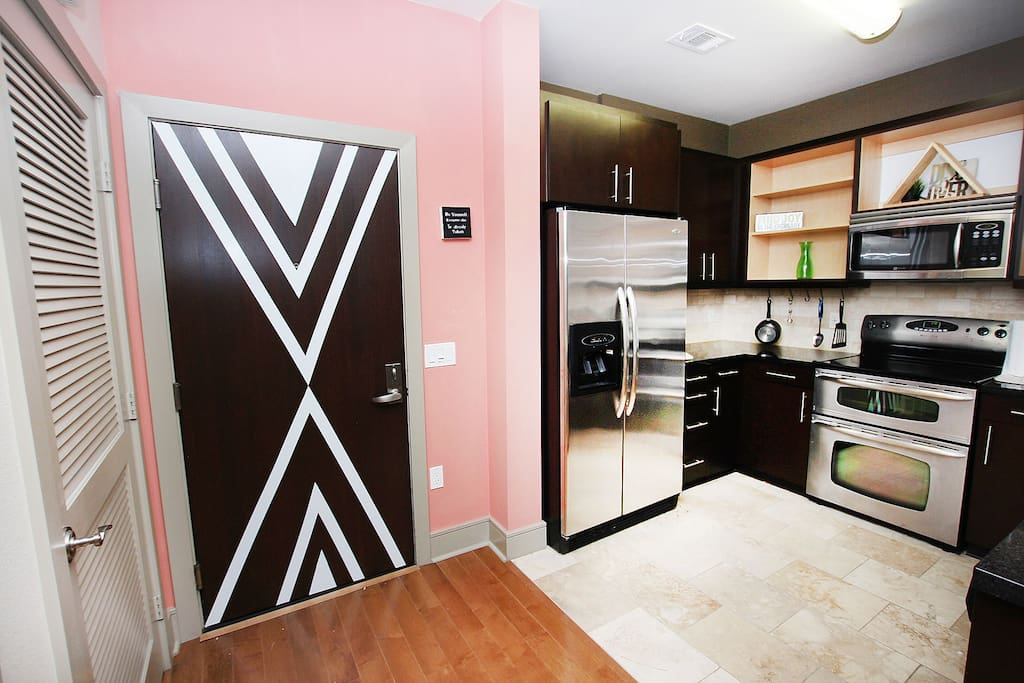 Enjoy using updated stainless steel appliances in our Boutique Retreat