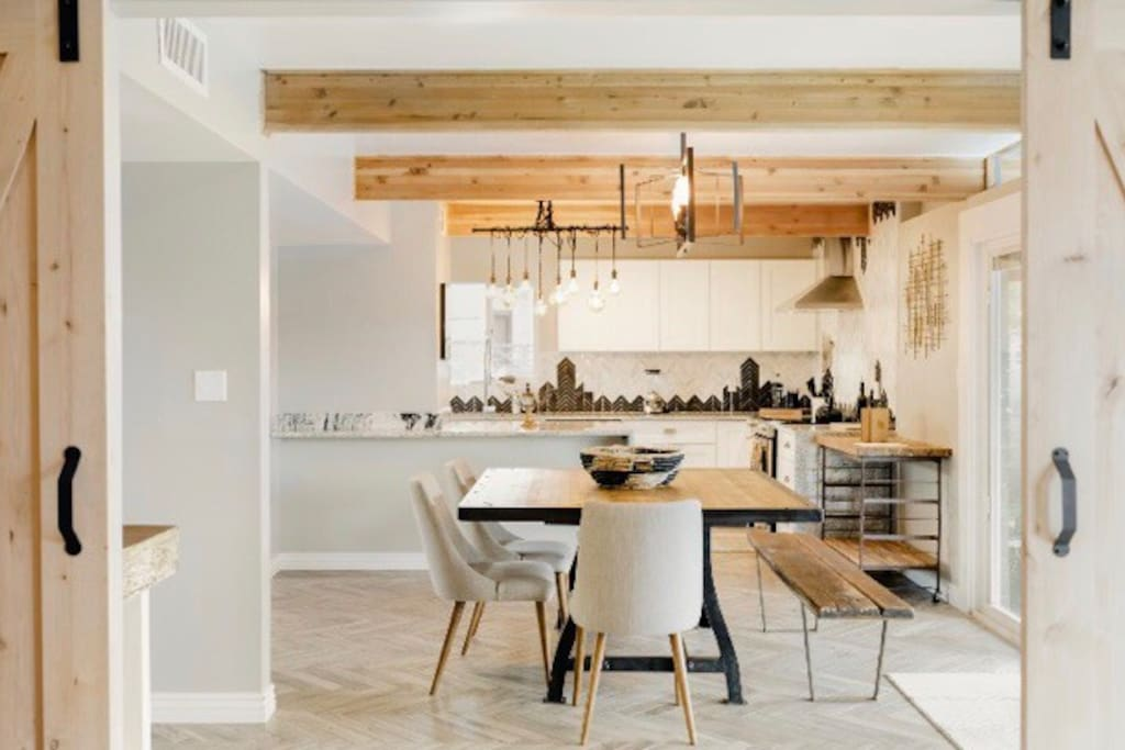 Open Concept Dining & Kitchen