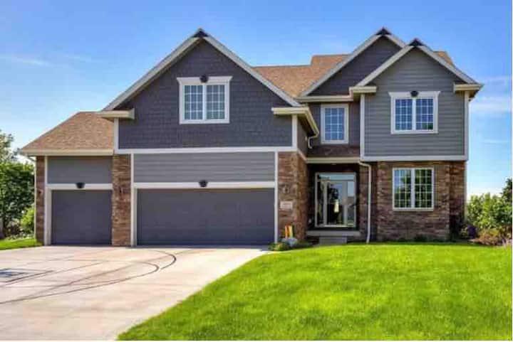 Huge suburban house
