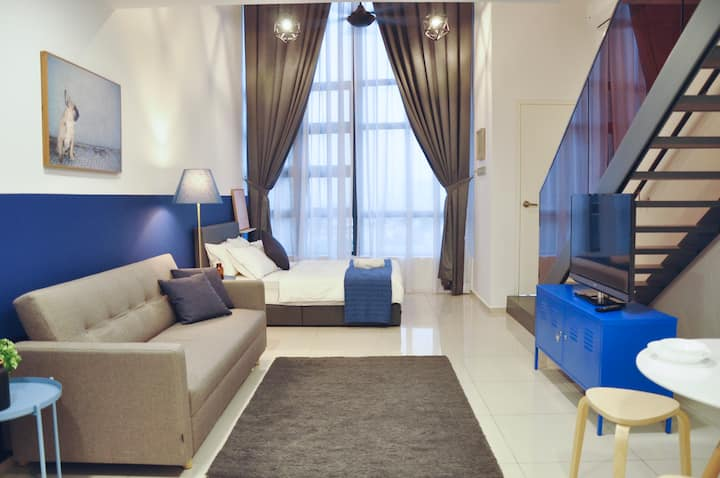 Stylish Cozy Loft Suites MRT KL Ekocheras 优质套房