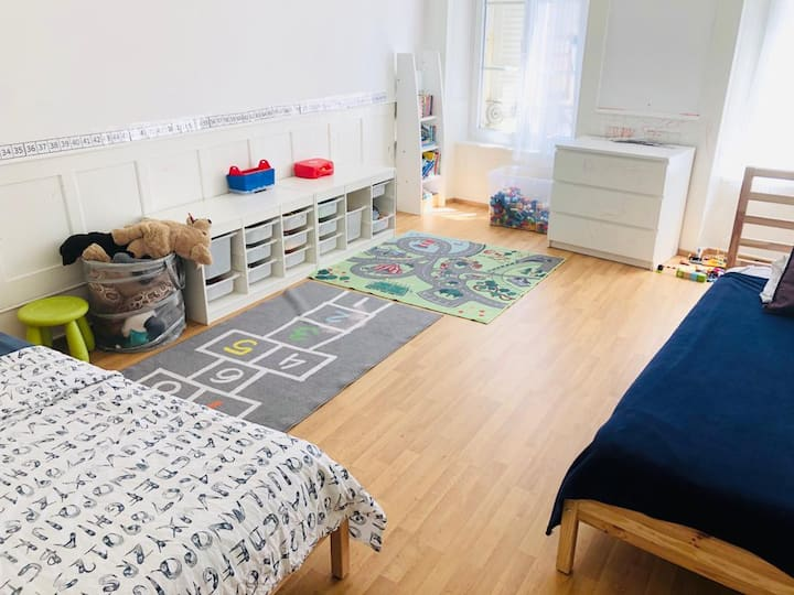 entire appartment suitable for family with kids