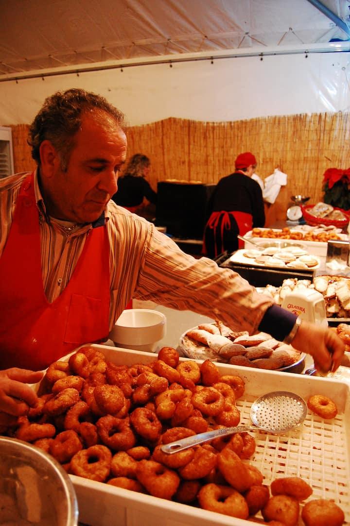 typical Sicilian street food
