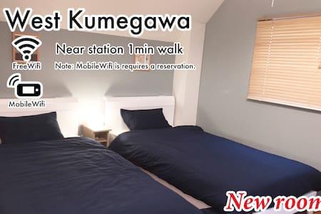 Shinjuku27min/NoCleanFee/Free&MobileWIFI/302room