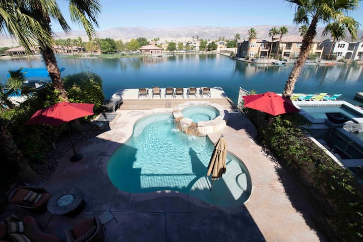 Amazing lake/golf home close to Coachella fest