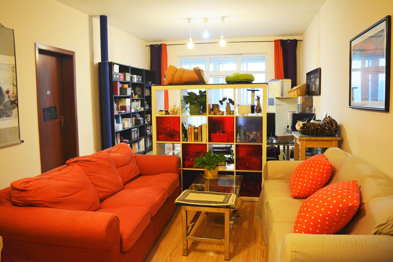 客厅 the living room