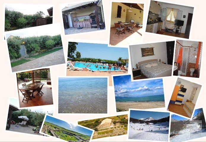 Villa Azzurra....mare, sole, cultura e WIFI free - Campofelice di Roccella - Apartamento