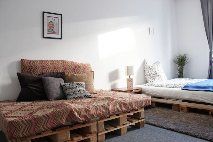 Bed and Sofa