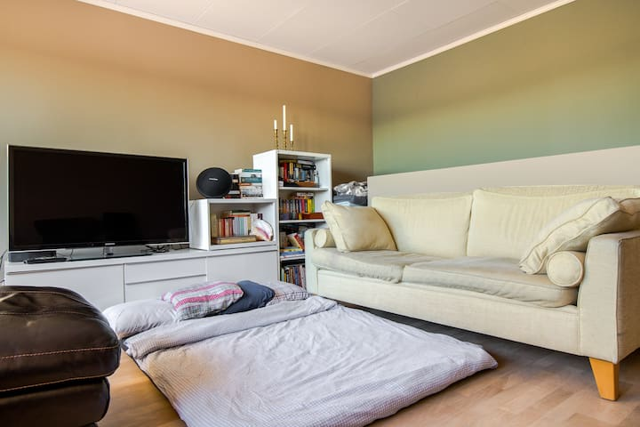 2 Floor Beds & 2 Couches, 11 Min to Oslo Central!
