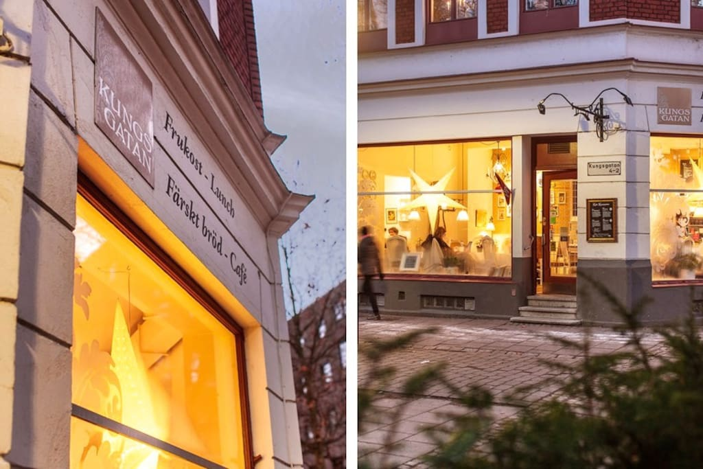 award winning café on the first floor of the building with brunch sat-sun and great opportunity for a classic swedish fika
