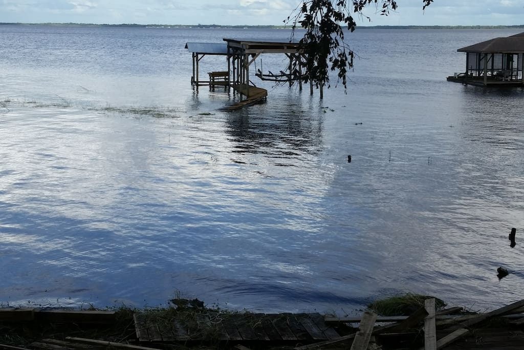 Dock currently unavailable, due to storm damage