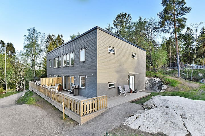 New house with lake view close to the archipelago