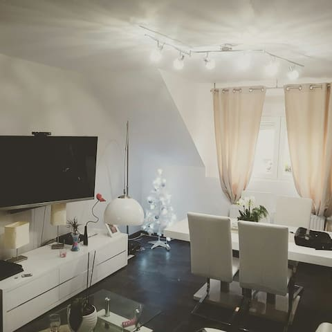 Jolie chambre dans appartement cosy - Wittelsheim - Huoneisto