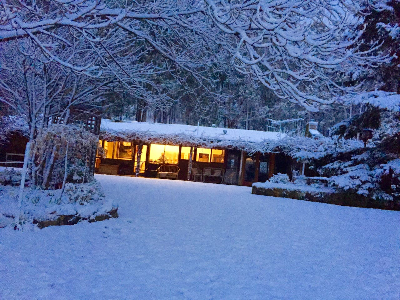 So cozy inside .. this is the farmhouse in winter