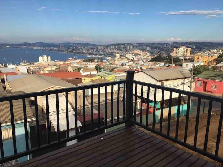 Habitación en el mágico puerto de Valparaíso