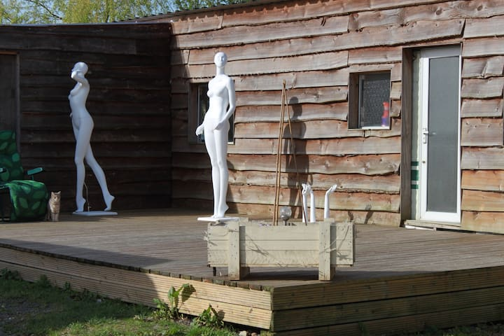Quirky Log Cabin In A Yard Full Of Mannequins - Fulbeck - Cabaña