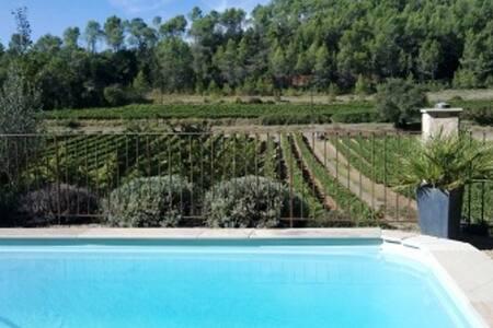 Maison de charme avec vue dominante et piscine - Carcès - Huvila
